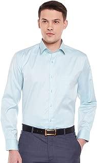 Lamode Men's Solid Light Blue Formal Shirt1009