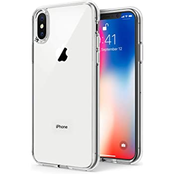 TENOC Phone Case Compatible for Apple iPhone Xs Max 6.5 Inch, Crystal Clear Ultra Slim Cases Soft TPU Cover Protective Bumper