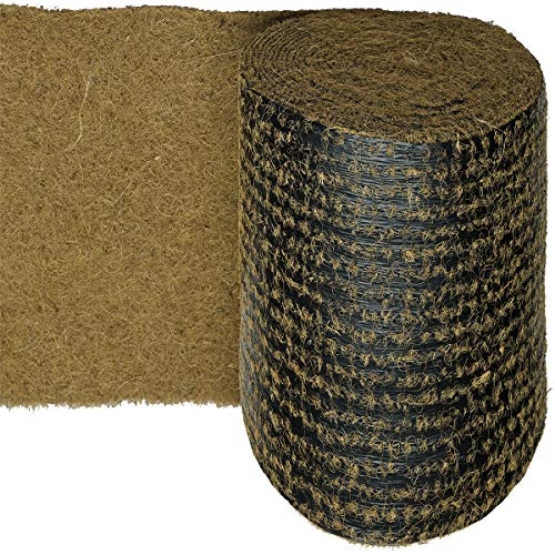 HaGa® Kokosmatte 0,5m x 5m Winterschutz auf biologisch abbaubarer Folie 500g/m²