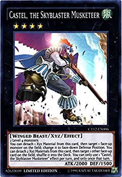 YU-GI-OH! - Castel The Skyblaster Musketeer  CT12-EN006  - 2015 Mega-Tin Exclusives - Limited Edition - Super Rare