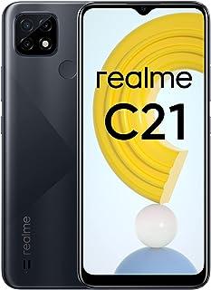 "realme C21 Mobile Phone, Sim Free Unlocked Smartphone with 5000mAh Massive Battery, 6.5"" Mini-drop Fullscreen, 13MP AI Tri..."