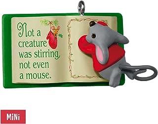 2017 Hallmark Mouse With Book A Creature Was Stirring Mini Ornament