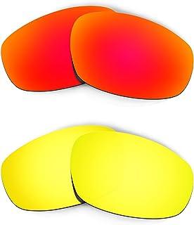 Hkuco Plus Mens Replacement Lenses For Oakley Split Jacket Red/24K Gold Sunglasses