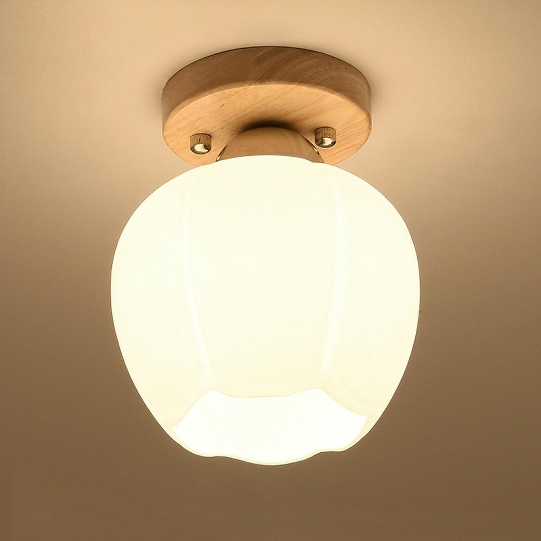 CAIXIA-Montage du flux Couloir nordique hall d'éclairage vestiaire petit éclairage éclairage lumière plafond Ampoule incluse (taille   B-14  18cm)