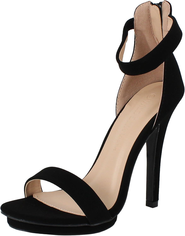 Wild Diva amy-01 Damen Zehenöffnung Ankle Strap Hohe Stiletto-Absatz Plattform Pumpe Sandale    Am wirtschaftlichsten    Mode-Muster    Passend In Der Farbe