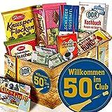 Wilkommen im Club 50 - Geschenke 50 Geburtstag - DDR Schokoladen Set