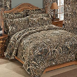 Realtree MAX-5 CAMO 3 Piece Queen Size Comforter Set - Includes: (1 Queen Size Comforter, 2 Pillow Shams) - Great for Cabin, Lodge or Ranch!