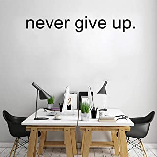 Never Give Up Wall Quote Sticker Decal Home Decor Vinyl Art Mural