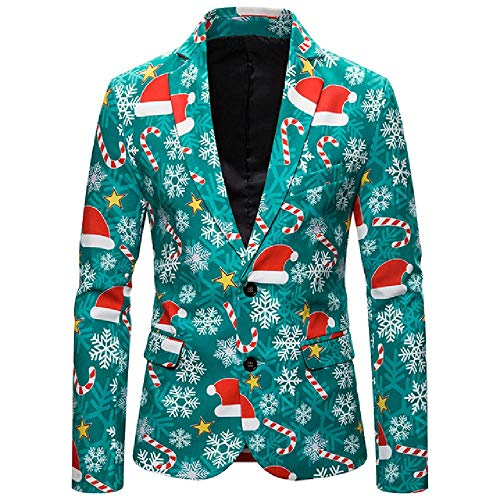 amly Herrenmode Anzug Party Mantel Casual Slim Fit Blazer Buttons Anzug 3D...