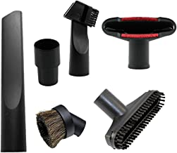 GIBTOOL Universal Vacuum Attachments Accessories Cleaning Kit Brush Nozzle Crevice Tool for 1 1/4 inch& 1 3/8 inch Standard Hose 6pcs