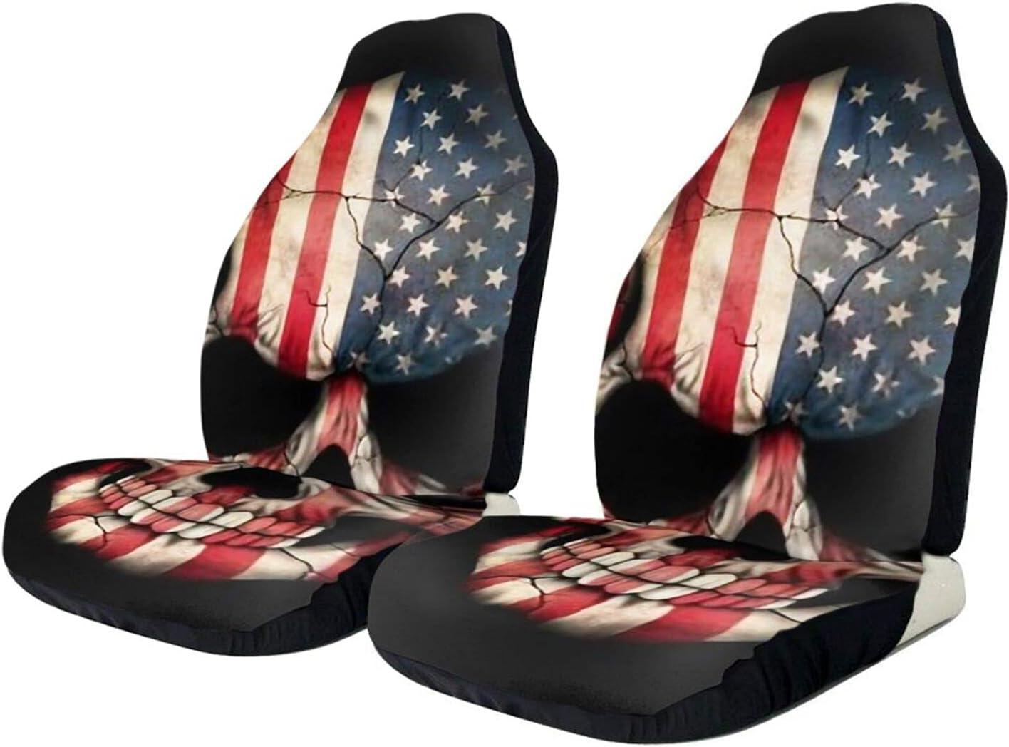 Elegant Auto Car Seat Covers Vintage Cov American Flag Bucket Skull Popular product