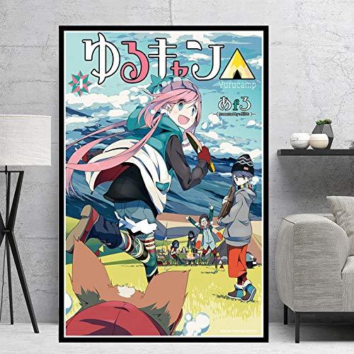 PLjVU Anime japonés Manga película Hermosa Chica póster e impresión Arte Pintura Lienzo Cuadro de Pared para Sala de Estar decoración del hogar-Sin Marco