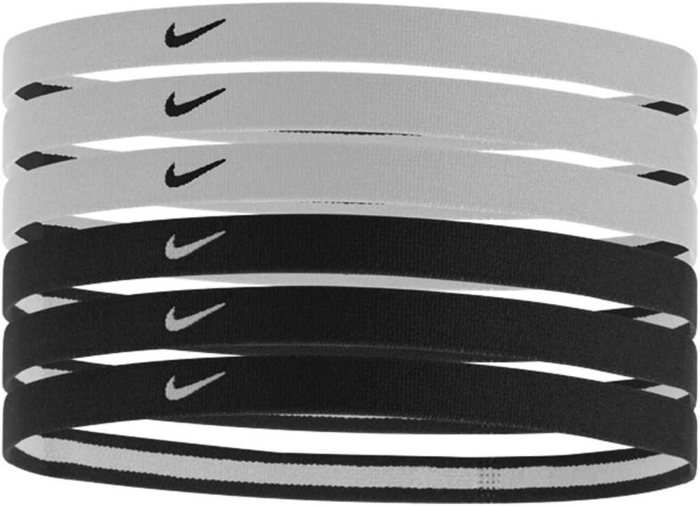 semilla hacer clic Monasterio  Amazon.com : Nike Swoosh Sport Headbands 6pk (One Size Fits Most,  Black/White) : Clothing