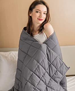 "Daverose Calming Weighted Blanket for Adults 15lbs 58""X80"" 130-160lbs Adults Full Size 