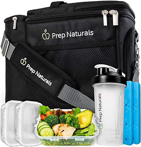 Meal Prep Isolierte Lunchtasche für Herren & Frauen – Meal Prep Kühltasche mit Behältern – Isoliertasche Lunchbox für Männer - Lunchtasche für Arbeit & Erwachsene