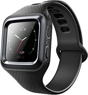 Clayco Fitbit Blaze Bands, [Hera Series] Shock Resistant Bumper Case with Strap Bands for Fitbit Blaze Replacement Smart Fitness Watch Wristband (Black)