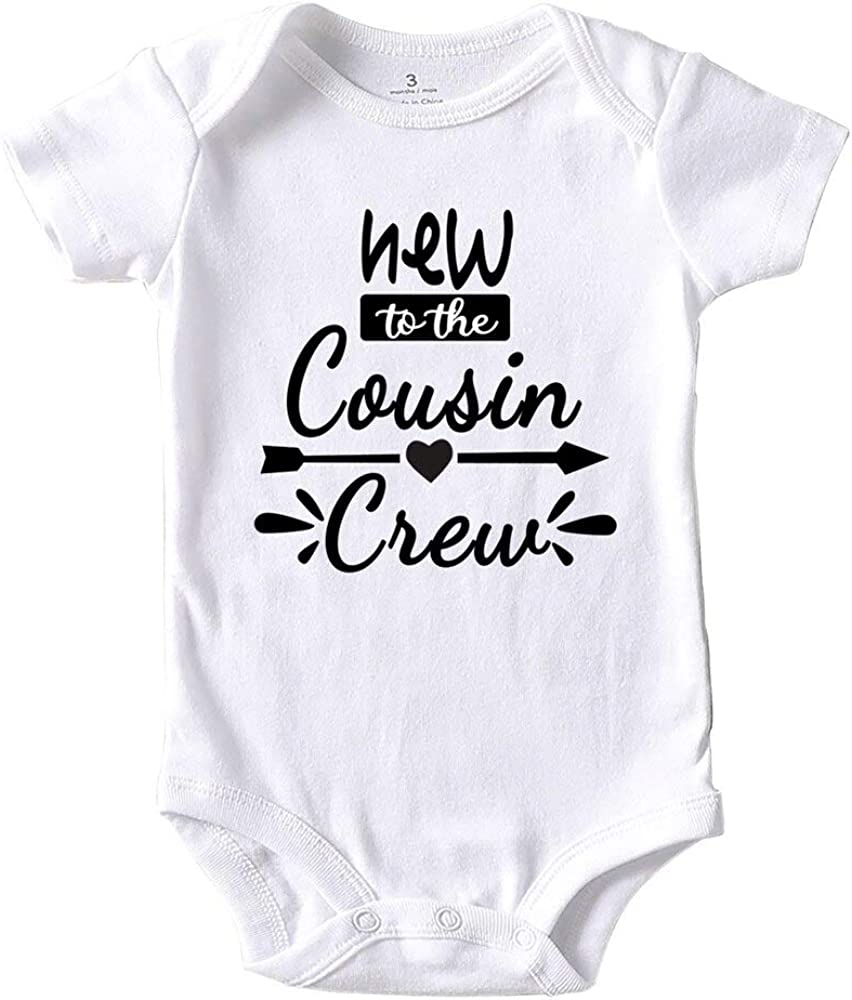 New Cousin Crew Baby Boy Clothes Unisex Funny Baby Girl Onesies 0-3 months