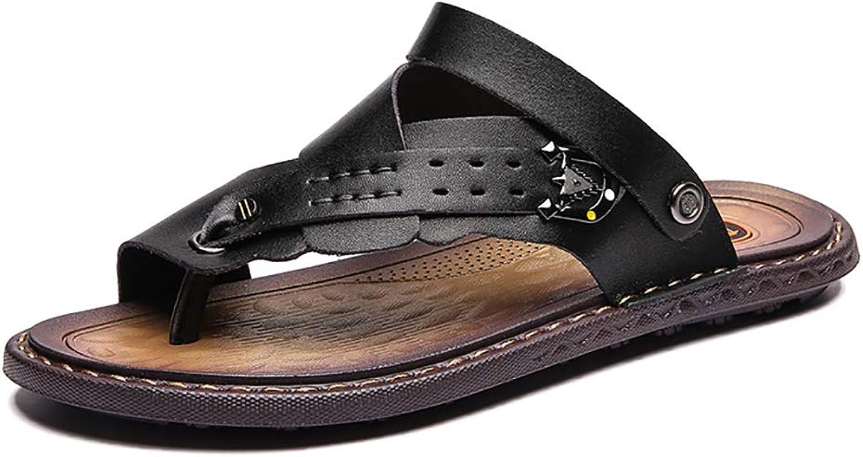 Flip -flops Mans Slippers Män's Sandals läder Top Top Top Layer sommar mode Trend Youth Toe strand skor  upp till 50% rabatt