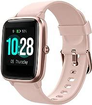 SmartWatch Damen,Fitness Tracker mit herzfrequenz,Smart Watch IP68,Voller Touchscreen wasserdichte Fitnessuhr mit Musiksteuerfunktion Schlafmonitor für iPhone Android Phone Herren Kinder (Rosa)