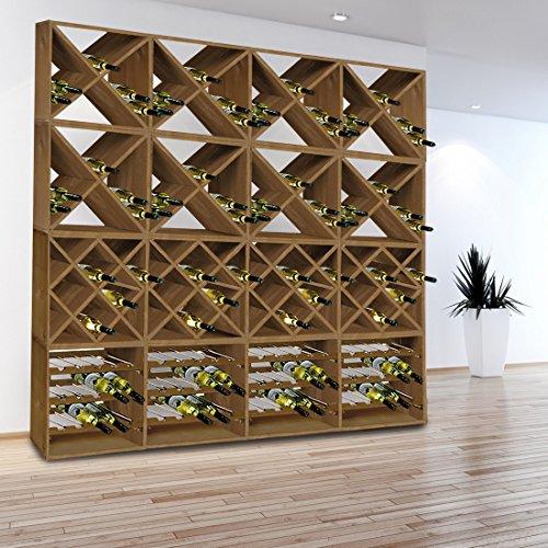 Système d'étagère à vin CUBE 50 tobacco module 4 standard - H50 x L50 x P25 cm