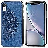 ZDCASE Coque pour iPhone XR, Mandala Motif Chiffon Tissu + Souple TPU Pare-Chocs Intégré...