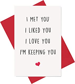 Funny I Love You Card, Birthday Card, Anniversary Card, Card for Boyfriend Husband Fiance