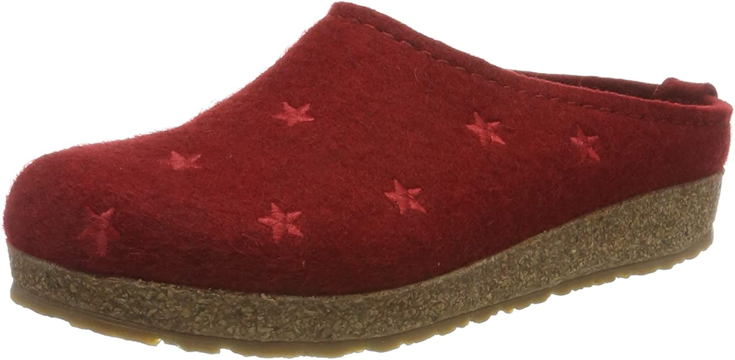HAFLINGER Price reduction Large special price Women's Textil Slippers US 8.5 40 EU red