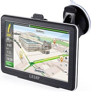 8 GB // 256 MB Sistema di navigazione GPS per auto pedonale camion SAT NAV TENSWALL bici Touch screen LCD da 7 pollici Navigatore GPS per lEuropa con animazioni multiple