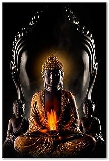 Hxjlmac God Buddha (60x90 سم) بدون إطار جدار الفن قماش يطبع الحديثة بوذا قماش اللوحات على الحائط صور البوذية ملصقات الحائط...