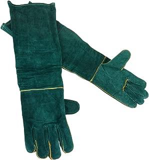 【 The earth crew 】 厚手 牛革グローブ 動物 ペット 噛みつき防止 園芸作業 ガーデニング お手入れ 保護手袋 ロングタイプ
