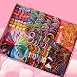 780 Stück Mädchen Haarschmuck Set Haarspangen Haarnadeln, Mini Haarclip, Haarseile, Haarbänder, Elastische Gummibänder, Rosa Geschenkbox für Mädchen Baby Kinder