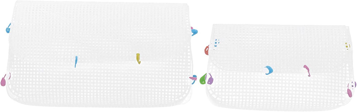 Max 61% OFF EXCEART Plastic Mesh Canvas Sheet Set- Embroidery Cross Stitch New popularity B