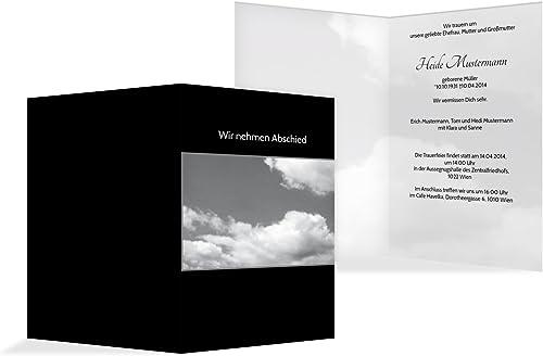 mas preferencial Tarjeta de luto Nubes, negro, 20 20 20  suministro directo de los fabricantes
