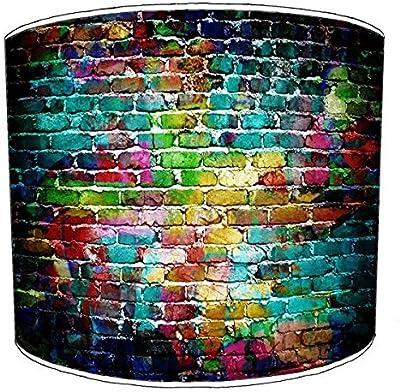 Premier Lighting Ltd 12 inch Brick Wall Graffiti Wall Art Abat-Jour 2 pour Une Lampe de Table