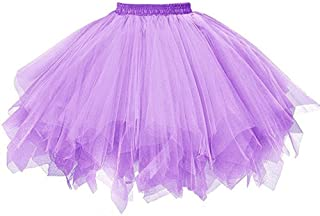 Lavany Pleated Skirt For Women High Waist Tutu Tulle Dancing Mini Skirt For Girl