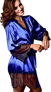 a77a6bdd295 Lingerie Bath Robe for Sex Jiayit Women Silk Kimono Dressing Babydoll Lace  Nightwear