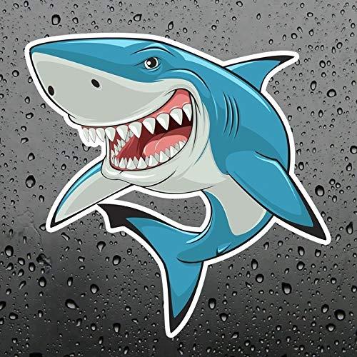 Wangna Interesante Fresco musculoso tiburón Vinilo Etiqueta engomada de automóvil Maleta calcomanía de Cuaderno de Coches Pegatina de Familia Applique para niños Juguetes clásicos