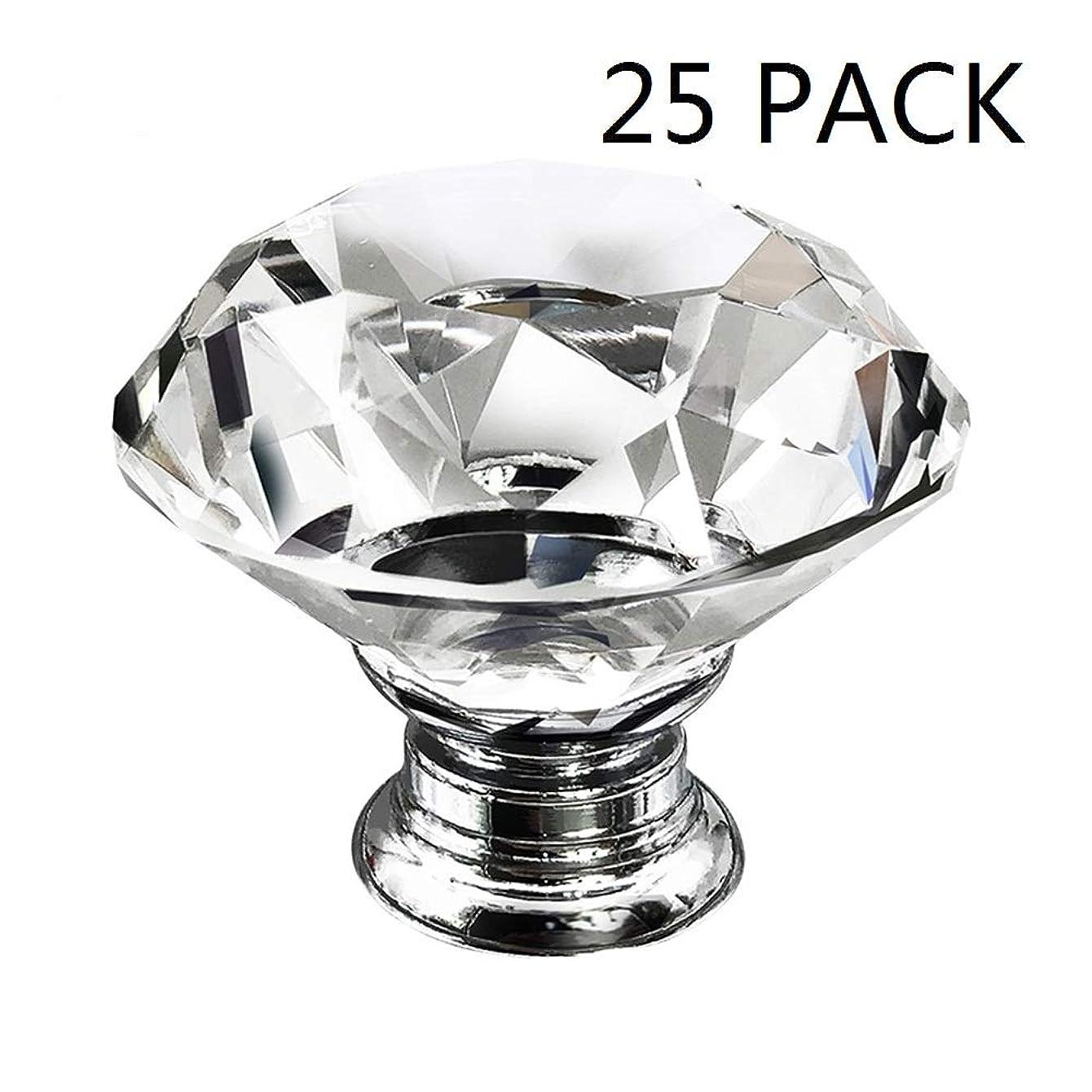 Dresser Crystal Knobs - 30MM 25 PCS Glass Crystal Drawer Knobs Pulls Cabinet Handle for Home Kitchen Wardrobe Cupboard mvsgzynjmncjm59