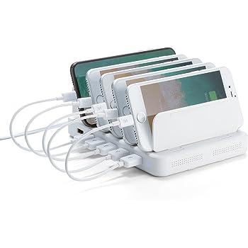 サンワダイレクト 充電ステーション USB充電器 スマホ・タブレット 6ポート 最大9.6A/60W 700-AC020W