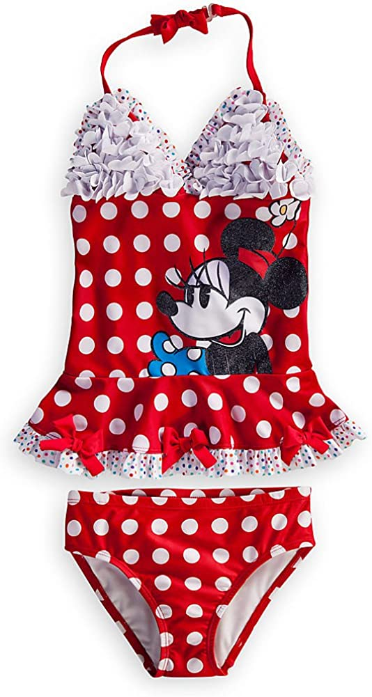 Disney Store Minnie Mouse Swimsuit Size 7 Deluxe Medium 2 cheap 2021 model 8: Red