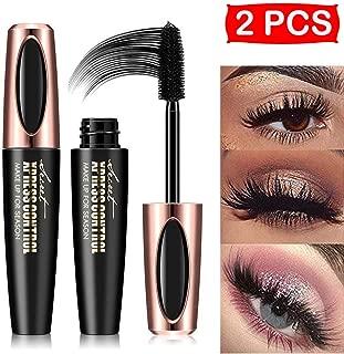 2Pcs 4D Silk Fiber Eyelash Mascara, Extra Long Lash Mascara and Thick, Long Lasting, Waterproof & Smudge-Proof, All Day Exquisitely Lush, Full, Long, Thick, Smudge-Proof Eyelashes