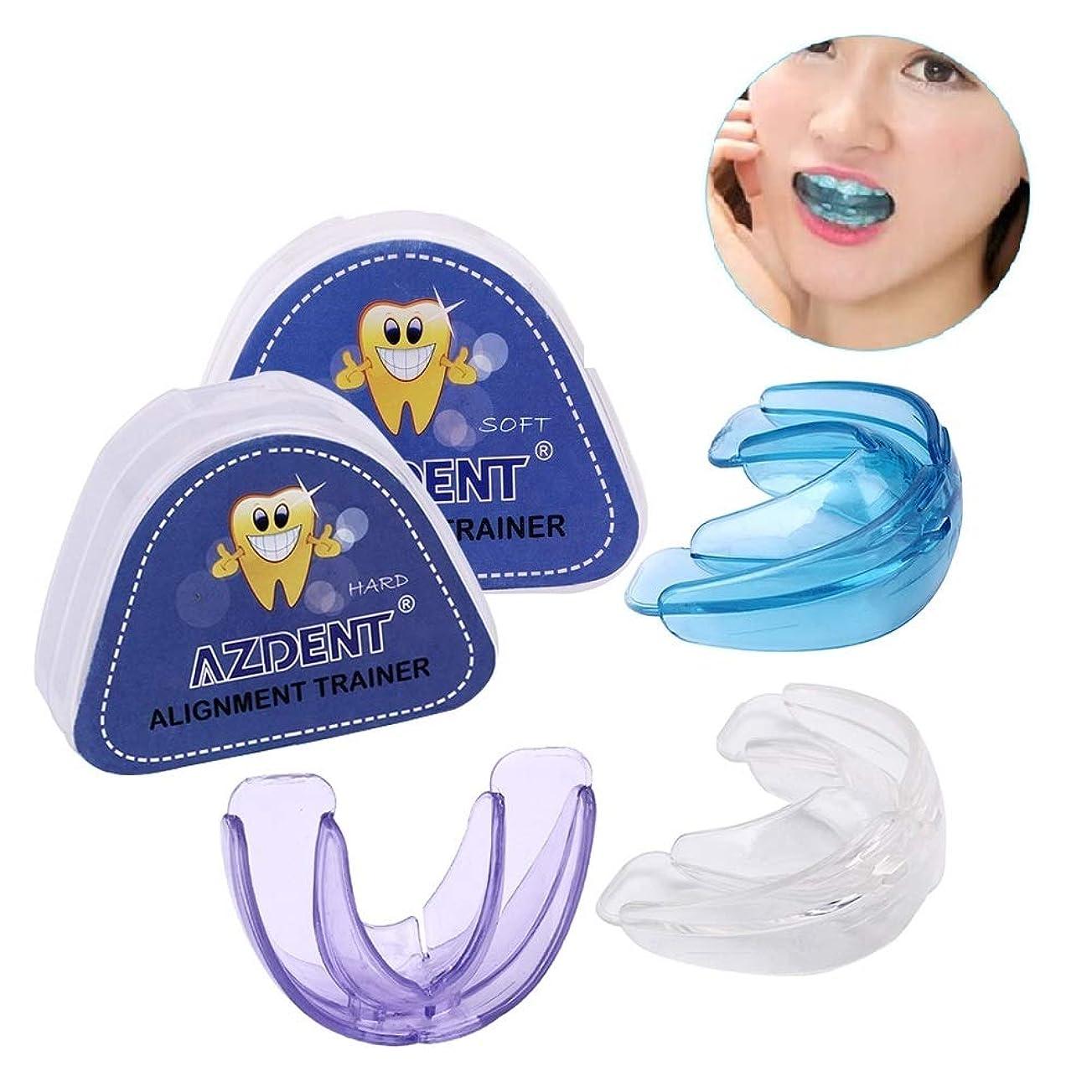 配置灰男らしさ1 SET(SOFT+HARD) Pro Silicone Tooth Orthodontic Dental Appliance Trainer Alignment Braces For Teeth Straight Alignment プロシリコントゥース歯列矯正歯科器具トレーナーアライメントカイトティースストレートアライメント(ソフト+ハード)