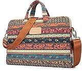 Kinmac New Bohemian 14 inch Canvas Laptop Shoulder Messenger Bag Briefcase for...