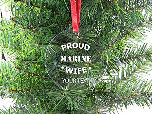 DKISEE Personalisierbarer Weihnachtsbaum mit Stolz, Meeresfrau, 7,6 cm, für Erinnerungsstücke, Geburtstagsgeschenk