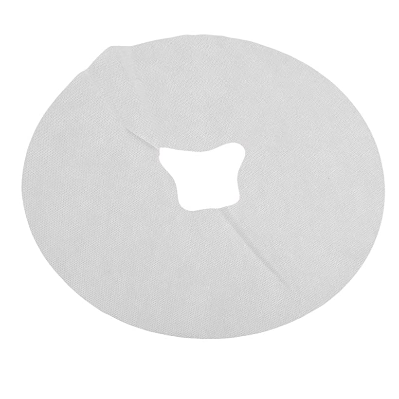 Bigsweety ホワイト使い捨てヘッドレストカバー不織布フェイスマッサージシートパッドスパ枕クッションマット美容ツール