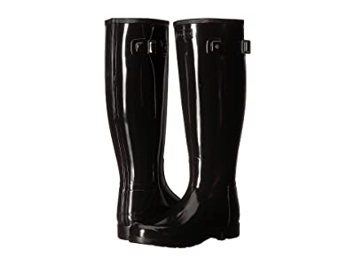 Hunter Original Refined Wide Fit Rain Boots (Black) Women