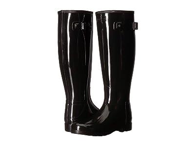 Hunter Original Refined Wide Fit Rain Boots (Black) Women