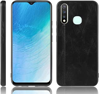 For Vivo Y19 Shockproof Sewing Cow Pattern Skin PC + PU + TPU Case New (Black) Wangyyy (Color : Black)