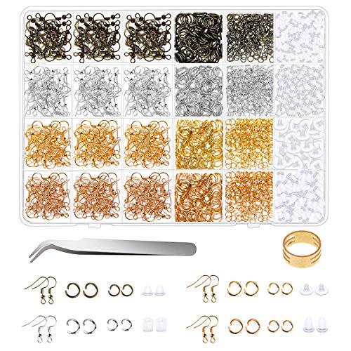 Earring Hooks for Jewelry Making, Shynek 2500Pcs...