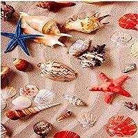 Xbwy 装飾壁画床壁画壁紙ステレオ美しいビーチシェル巻貝床タイル浴室キッチンPvc防水ステッカー-350X250Cm